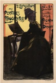 Vintage French poster - 2nd exhibition of painter-lithographers (1899)